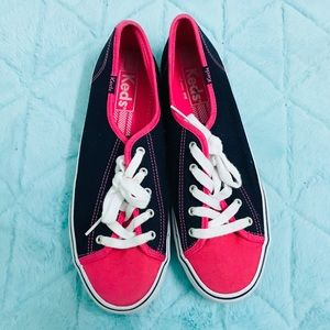 Keds blue navy and pink size 7.5 women's